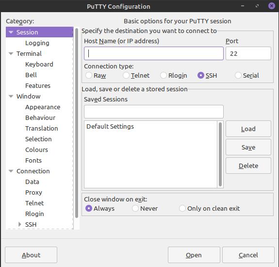2.- Putty on Ubuntu