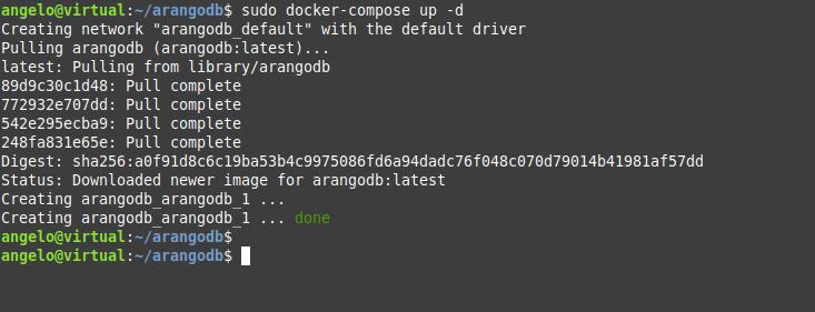 2.- Deploy ArangoDB using docker compose