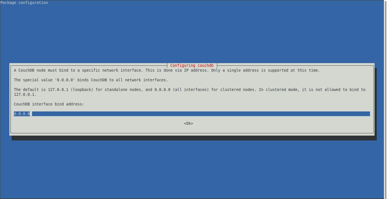 3.- Configuring CouchDB