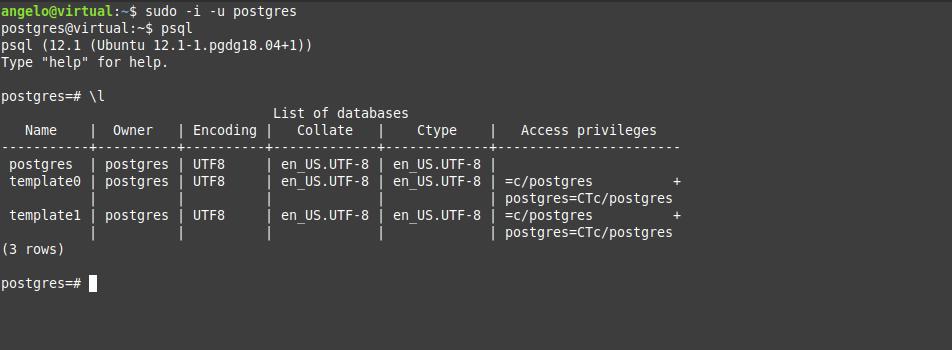3.- PostgreSQL 12 on Ubuntu 18.04