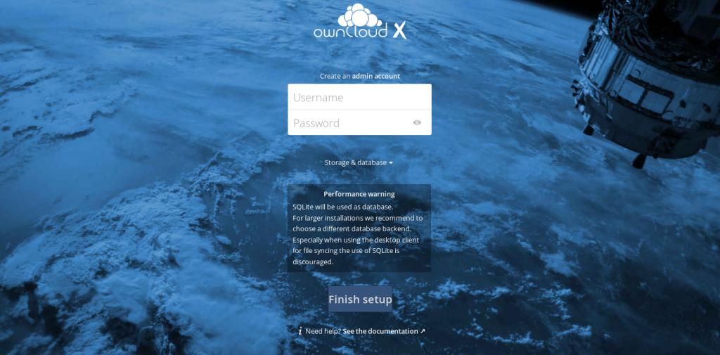 4.- Owncloud initial screen