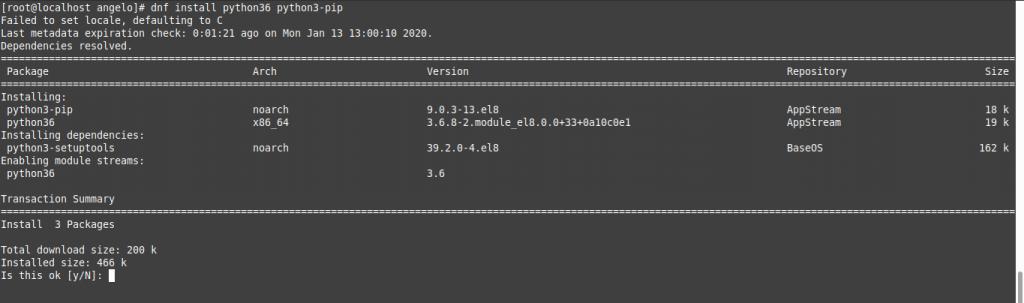 1.- Install Python pip on CentOS 8