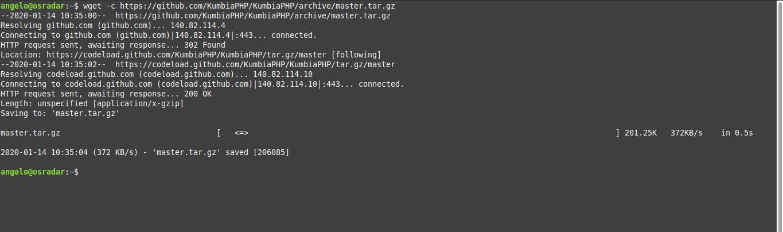 1.- Download KumbiaPHP on Debian 10