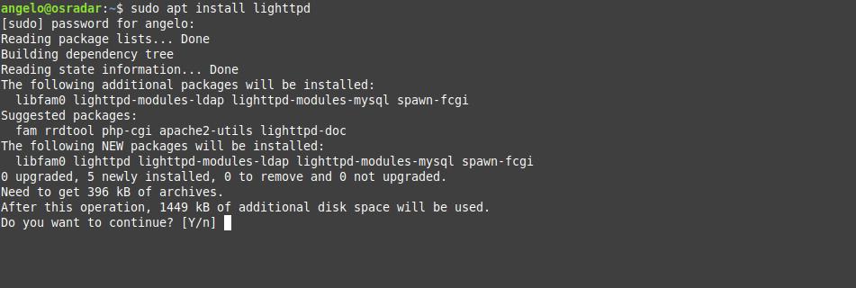 1.- Install Lighttpd on Debian 10