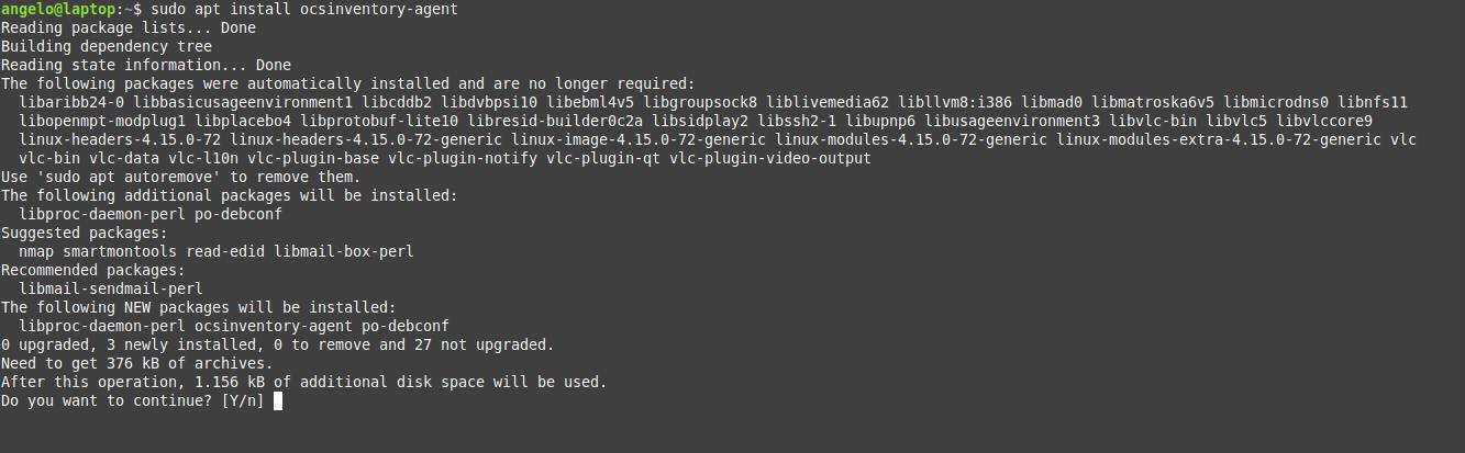 1.- Install OCSInventory agent on Ubuntu 18.04 / Linux Mint 19
