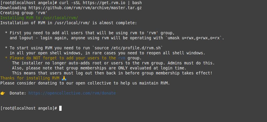 1.- Install RVM on CentOS 8