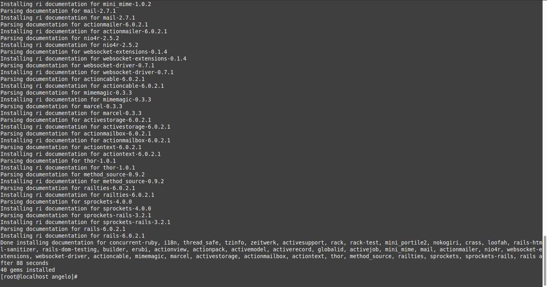 1.- Install Ruby on Rails on CentOS 8