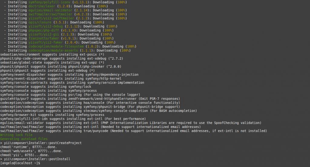 1.- Installing Yii framework on CentOS 8