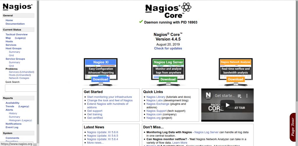 13.- Nagios running properly
