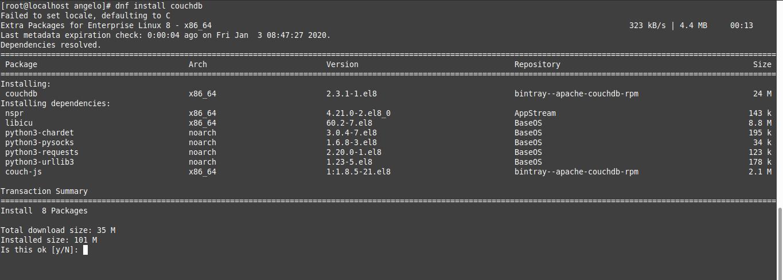 2.- Install CouchDB on CentOS 8