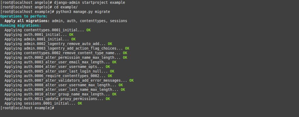 3.- Installing Django on CentOS 8