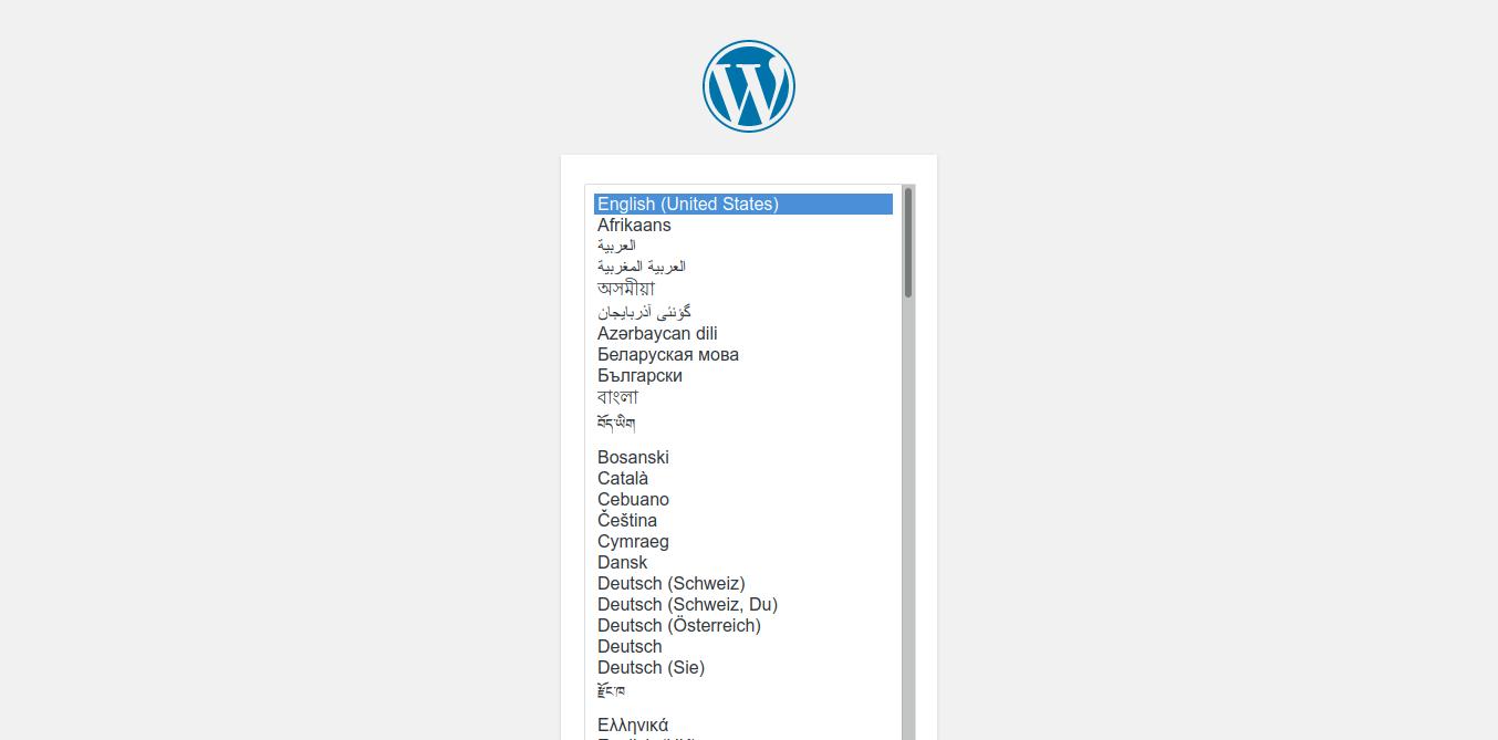 3.- WordPress installation
