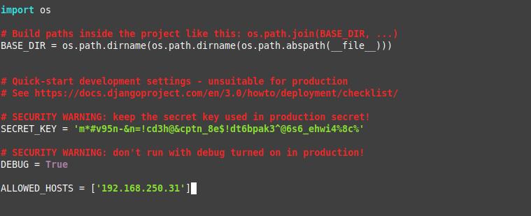 5.- Configuring Django on CentOS 8