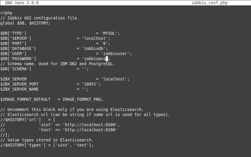 6.- Configuring Zabbix