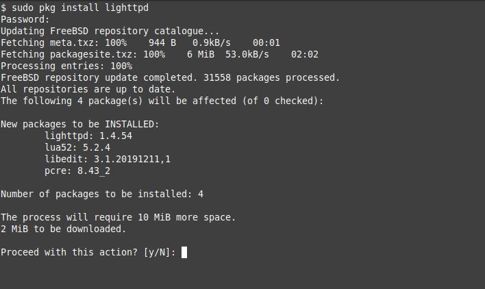 1.-  Install Lighttpd on FreeBSD 12