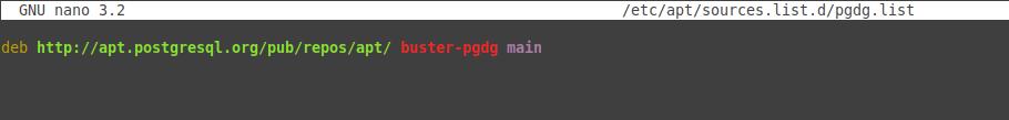 1.- Adding the postgresql repository