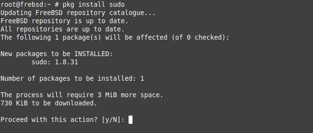 1.- Install sudo on FreeBSD 12