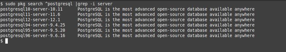 1.- PostgreSQL on the FreeBSD repository