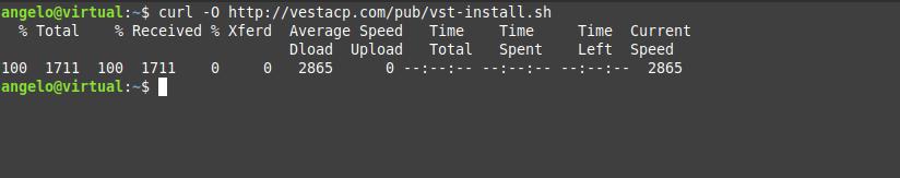 1.- Download the VestaCP installer