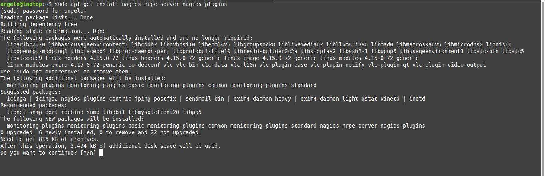 1.- Install Nagios agent on Ubuntu 18.04 / Linux Mint 19