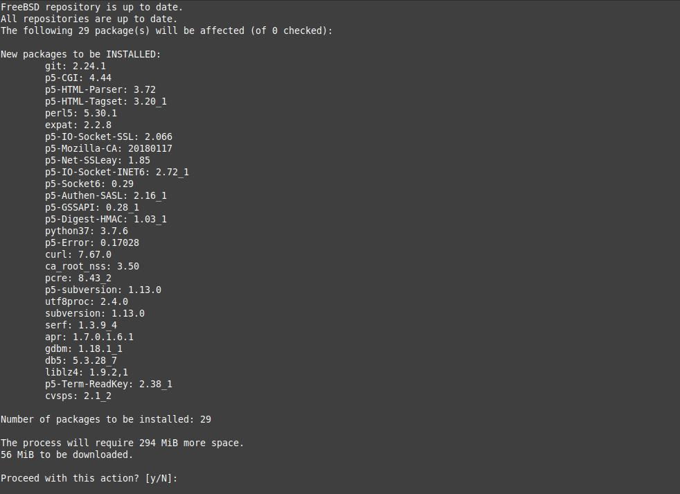 2.- Installing Git on FreeBSD 12