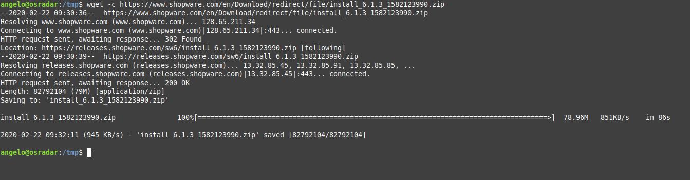 2.- Download Shopware on Debian 10