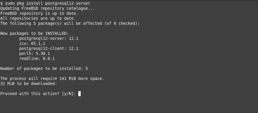 2.- Install PostgreSQL on FreeBSD 12