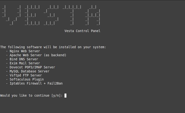 2.- The VestaCP installer
