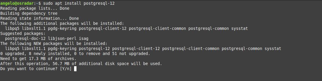 4.- Install PostgreSQL 12 on Debian 10