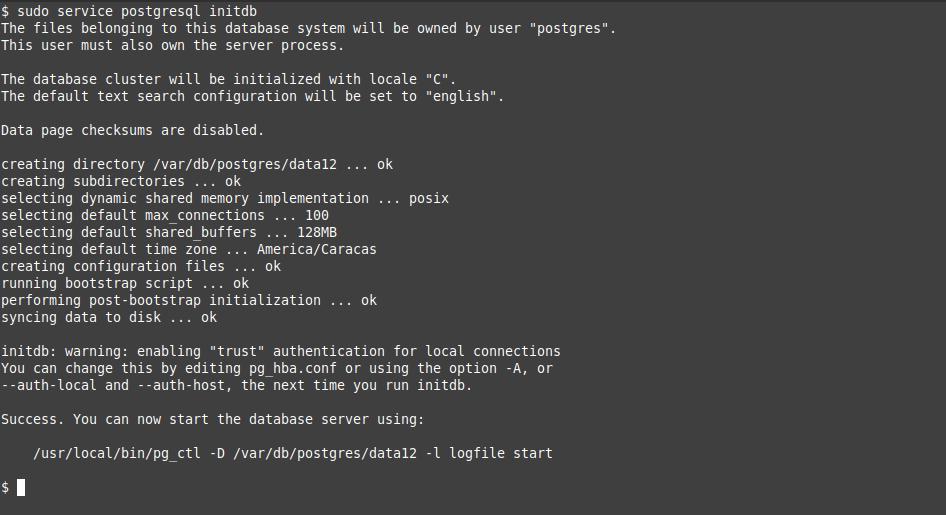 5.- Configuring PostgreSQL