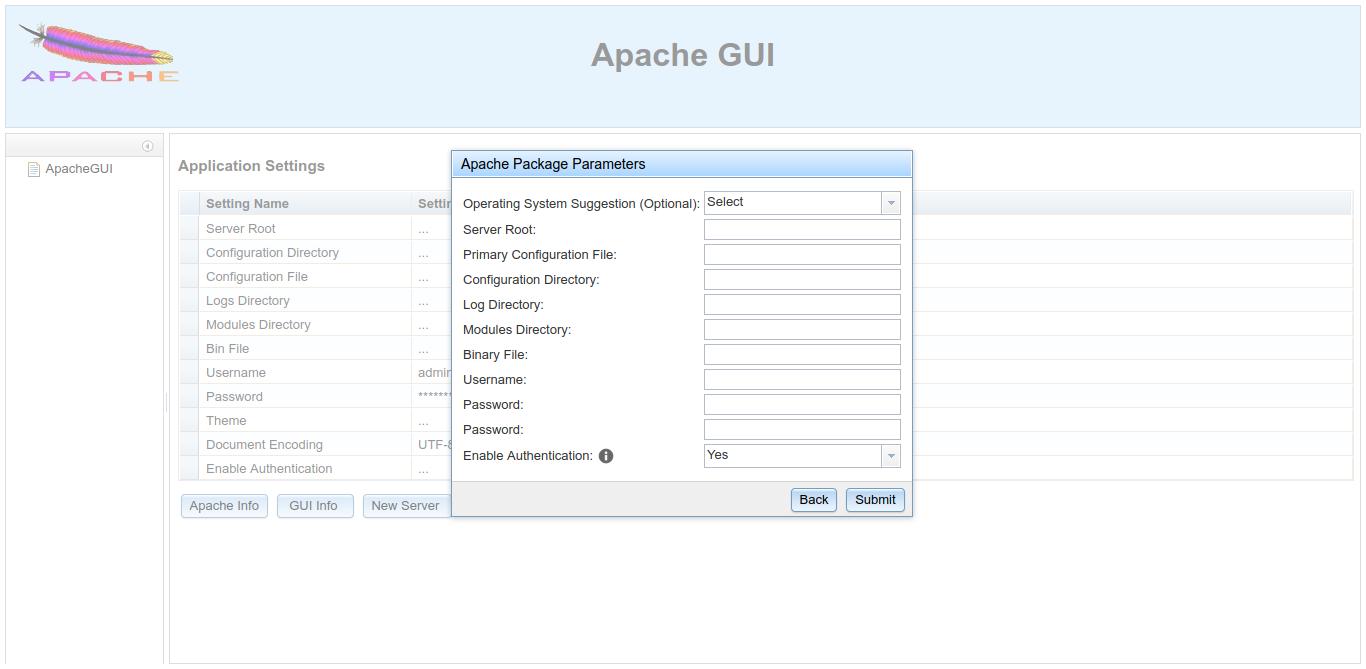 8.- Apache GUI