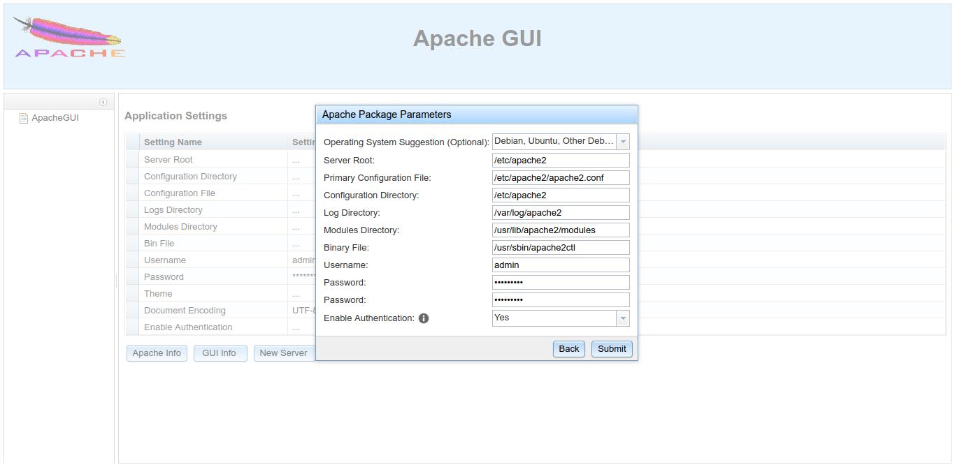 9.- Installing Apache GUI on Debian 10