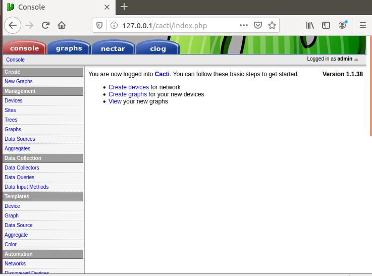 how to install cacti on ubuntu 18.04