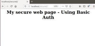 Configure apache web