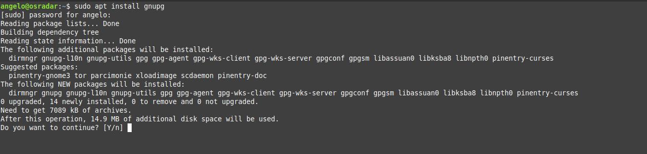 1.- Installing GNUpg on Debian 10