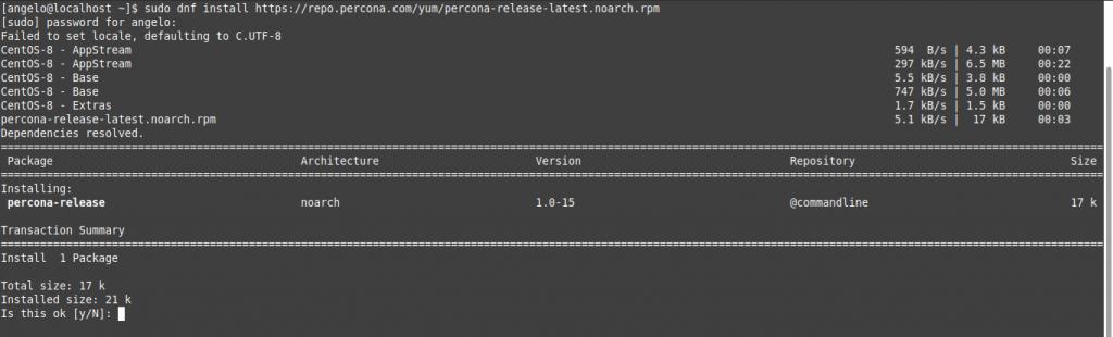 1.- Adding the Percona repository for CentOS