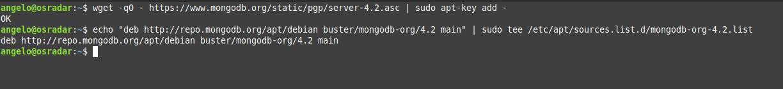 2.- Adding the MongoDB repository