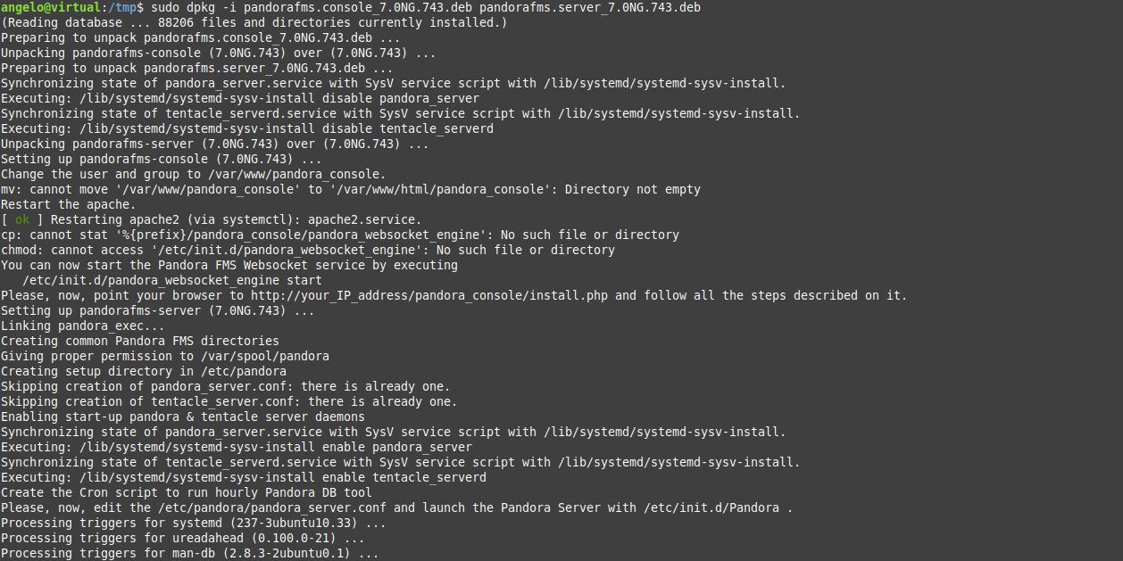 3.- Installing PandoraFMS on Ubuntu 18.04