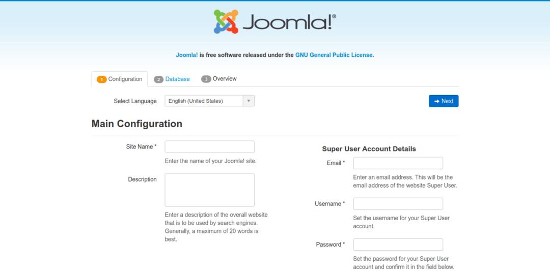 3.- Installing Joomla on Debian 10