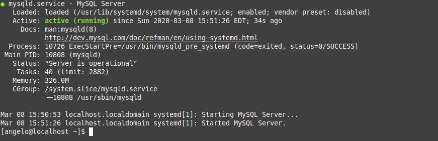4.- Service status