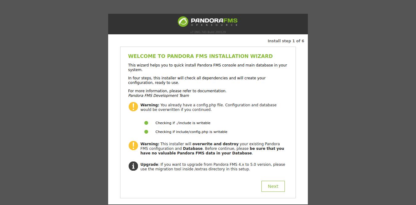 5.- PandoraFMS on Ubuntu 18.04