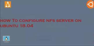 how to configure nfs server on ubuntu 18.04