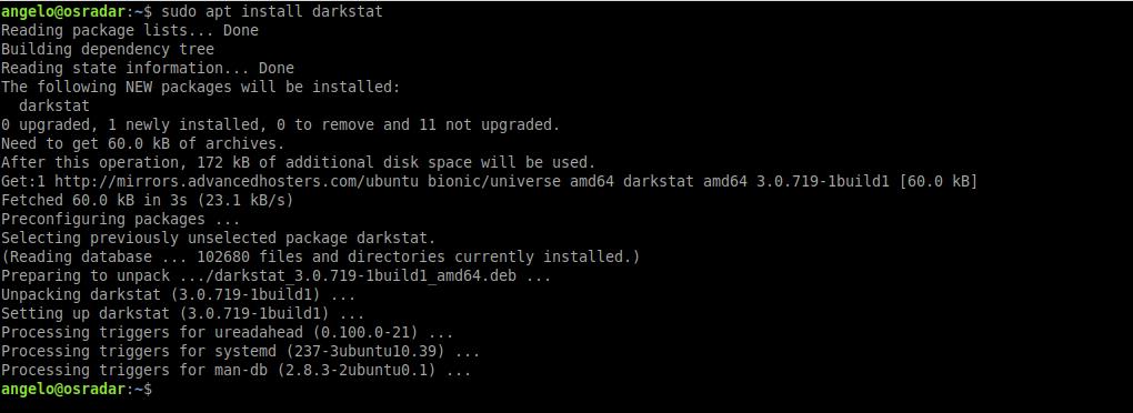1.- Install Darkstat on Linux