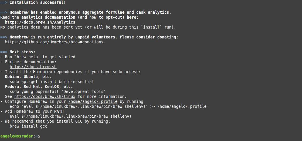 1.- Install homebrew on Ubuntu / Debian