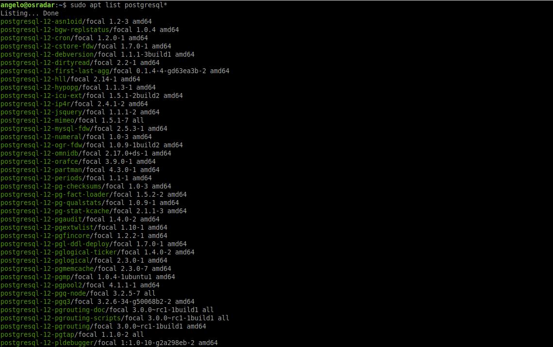 1.- All PostgreSQL package on Ubuntu 20.04