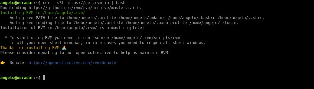 1.- Getting RVM on Ubuntu 20.04 / Debian 10