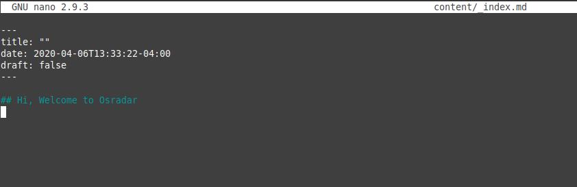2.- Creating a new site with hugo on Ubuntu 20.04 / Debian 10