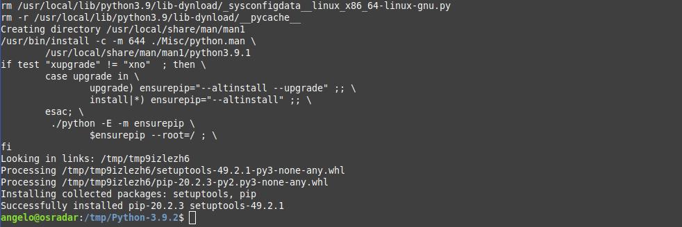 4.- Installing python 3.9 on Debian 10