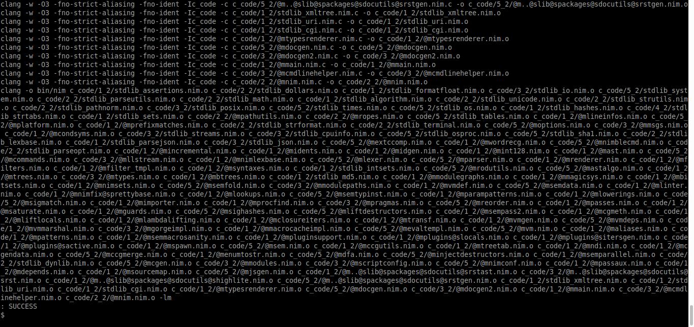 3.- Building the Nim programming language