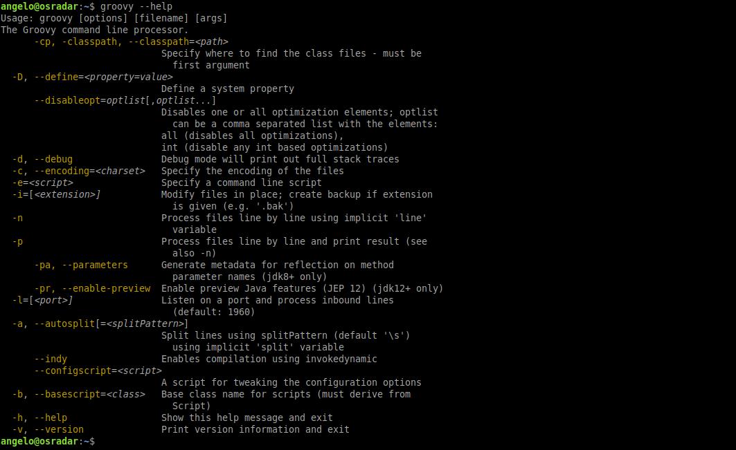 3.- Groovy help on Ubuntu 20.04 / Debian 10